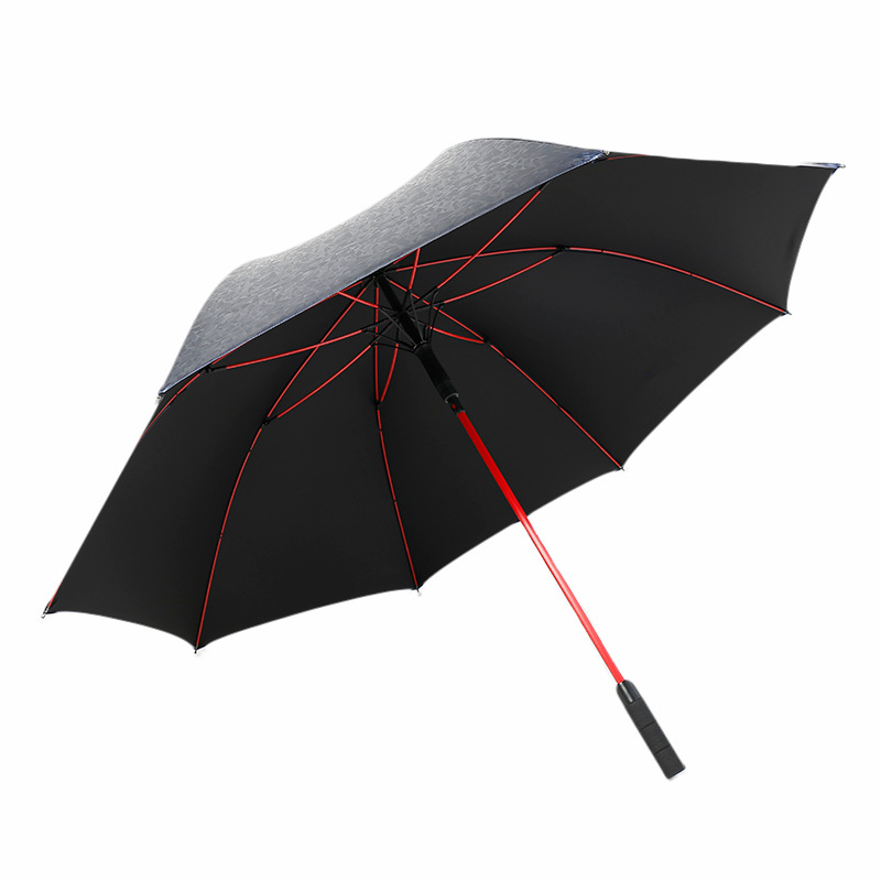 30-Inch 8K Color Fiber Long Handle Golf Umbrella Creative New Style Top Grade Windproof Automatic Gift Business Advertising Umbr