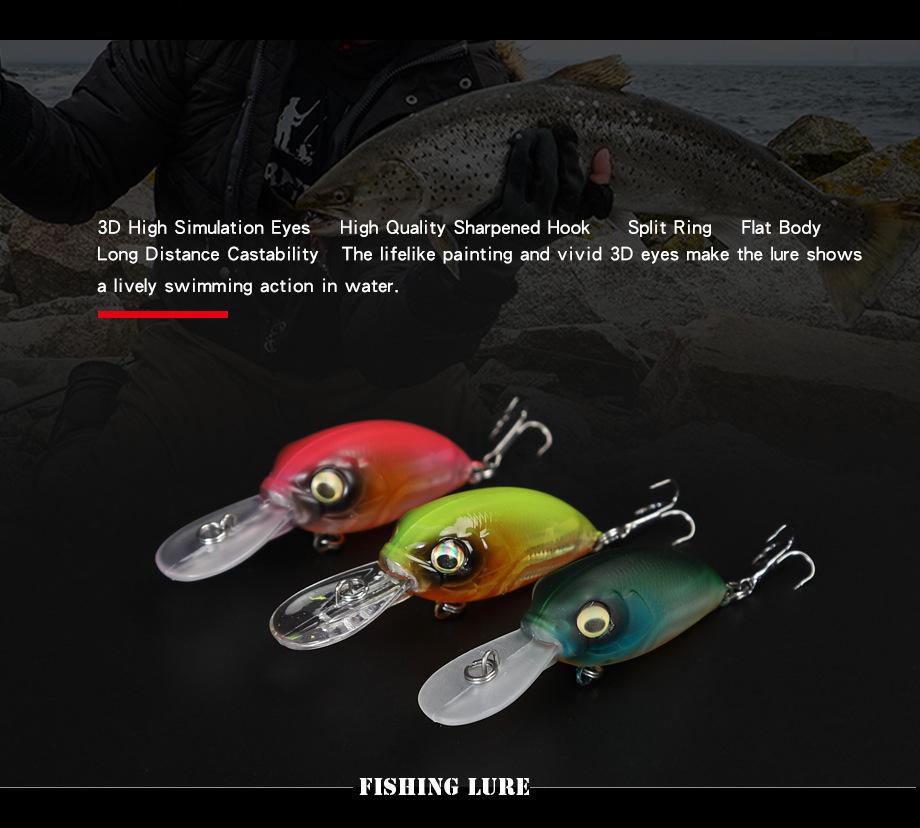 Жесткая приманка плавающая для ловли басов 39mm48g воблеры