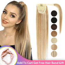 Hair-Extensions Ponytail Blonde Human-Hair Clip-Ins Remy Natural Brazilian Brown 14 Color