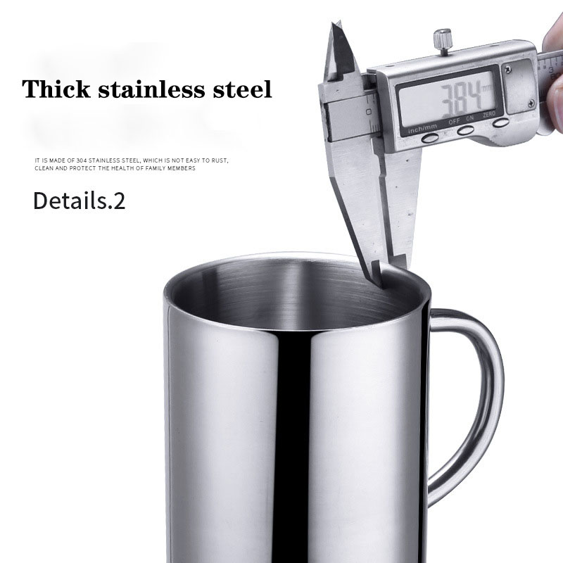 210ml 260ml 400ml stainless steel portable mug home travel travel wash cup covered coffee milk cup adult child tea cup