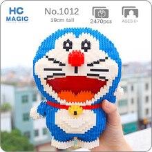 HC 1012 Anime Hoạt Hình Chú Mèo Máy Doraemon Động Vật Thú Cưng Robot 3D Mô Hình DIY Mini Kim Cương Khối Gạch Xây Dựng Đồ Chơi Cho Trẻ Em không Có Hộp