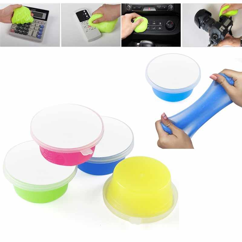 4/1Pcs Household Magic Cleaning Glue Strong Gap Dust Cleaner Sponge Slimy Gel Cleaner Car Computer Keyboard Dust Removal Tool