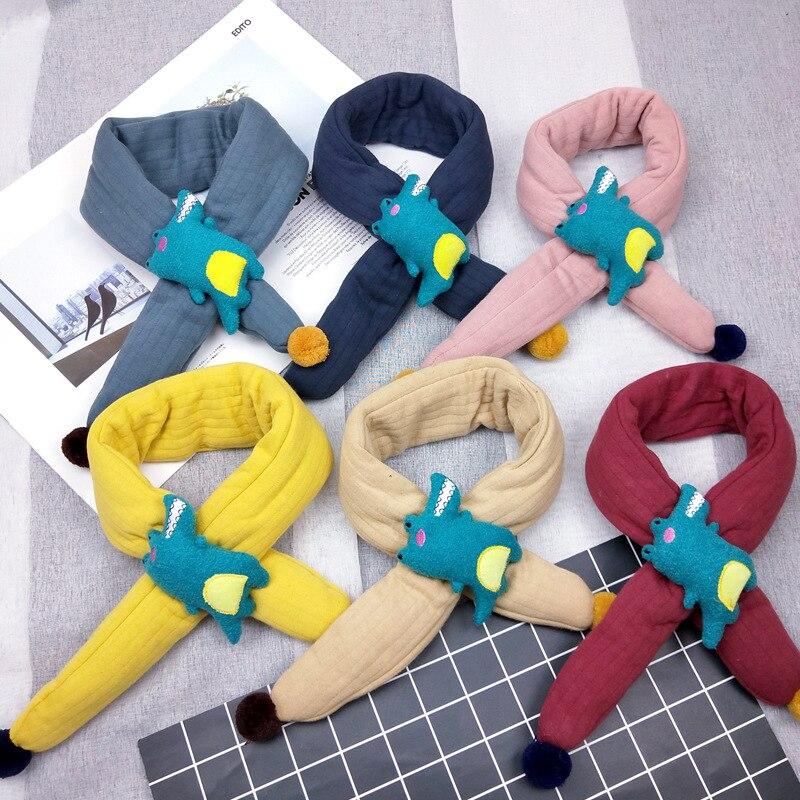 Fashion Dinosaur Style Winter Kids Scarves Warm Baby Boys Girls Scarf Solid Soft Scarf Collar Children Stretch Neck Ring