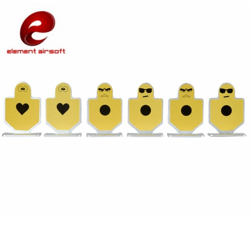 Element Airsoft AEG Metal Warriors of Fortitude Shooting Target Aluminum Training Softair Paintball Hunting Accessories EX118