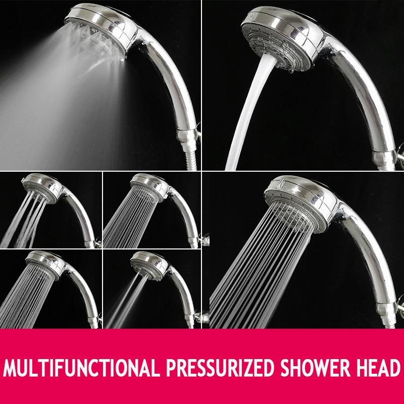 SHAI 7 Function Shower Head Multifunction Adjustable Increase Pressure Shower Head Water Saving Spa shower head