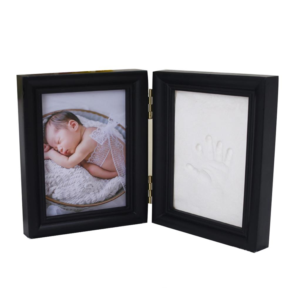 Baby Hand Prints Newborn Baby Hand Inkpad Photo Frame Hand Print Souvenir With Wooden Frame Baby Hand Print Mud Baby Gift