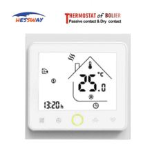 цена на Hot sale best quality room digital thermostat heating temperature control for Gas Boiler&Drycontact