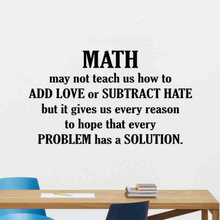 Math Wall Decal Quote Mathematics Sign Classroom Vinyl Sticker Education Science Gift Art Motivational Poster SK64