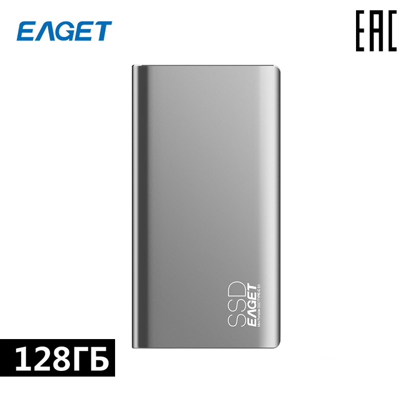 Portable SSD Hard Disk Eaget M1 128 GB Type-C + USB3.1 Mobile Disk [free Shipping From Russia]