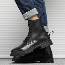 Men's Martin Boots Zipper Ankle Boots Internet Popular Workwear Boots Youth Short Leg Fashion Boots Men's High Top Chelsea Boots