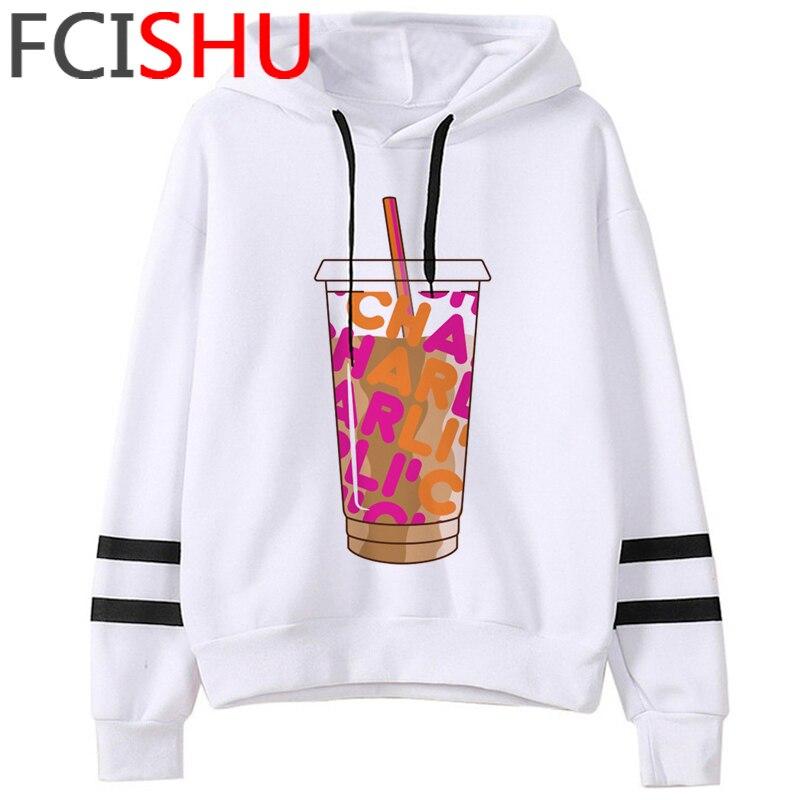 Fashion Charli Damelio Merch Ice Coffee Graphic Hoodies Women Harajuku Ullzang Funny Cartoon Sweatshirt Wimter Warm Hoody Female 18