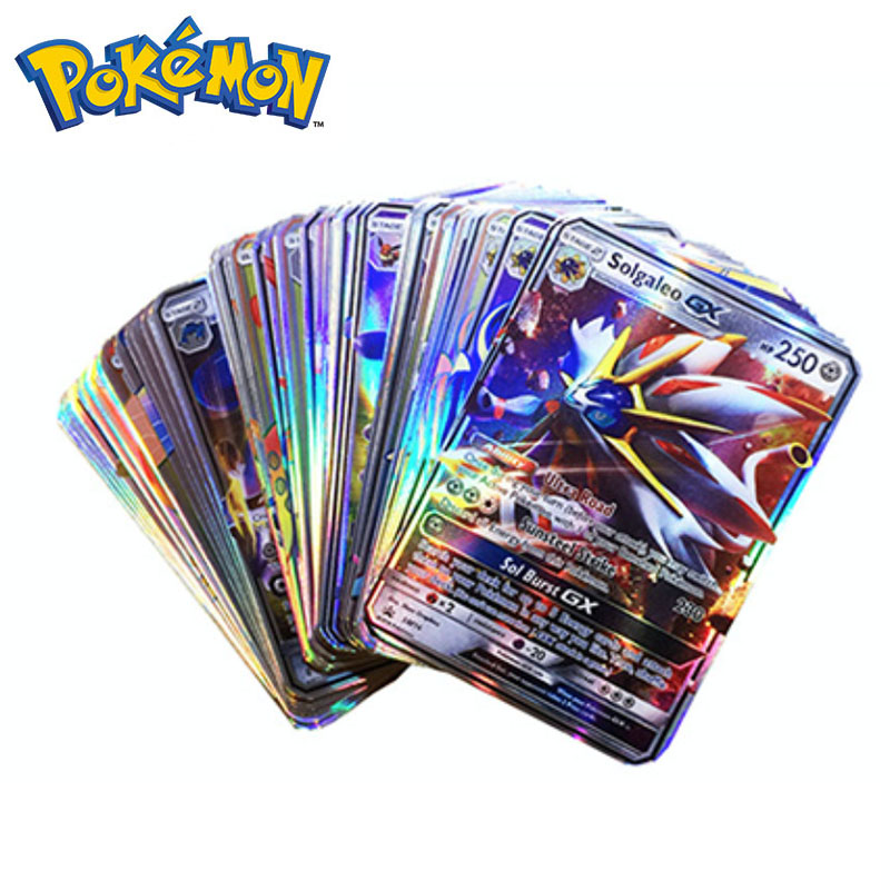 Takara Tomy Pokemon 20/60/70/100/120/200/300pcs Shining Cards GX MEGA Game Battle Carte Trading Cards Game Kids Christmas Gift