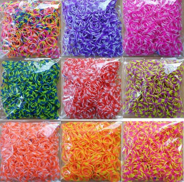 loom rubber bands bracelet for kids or hair rubber loom bands make woven bracelet Colorful DIY toys Christmas 2020 Gift