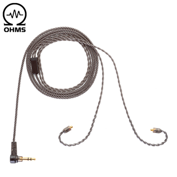 цена на ALO Original Andromeda Smoky Litz Cable new 4-strand silver plated copper Earphone wire MMCX 3.5mm plug headset upgrade cable