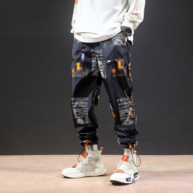 2019 New High Street Fashionable Printed Men's Jogger Trouser Hip Hop Homens Casual Bermuda Harem Pants Sweatpants Streetwear 5