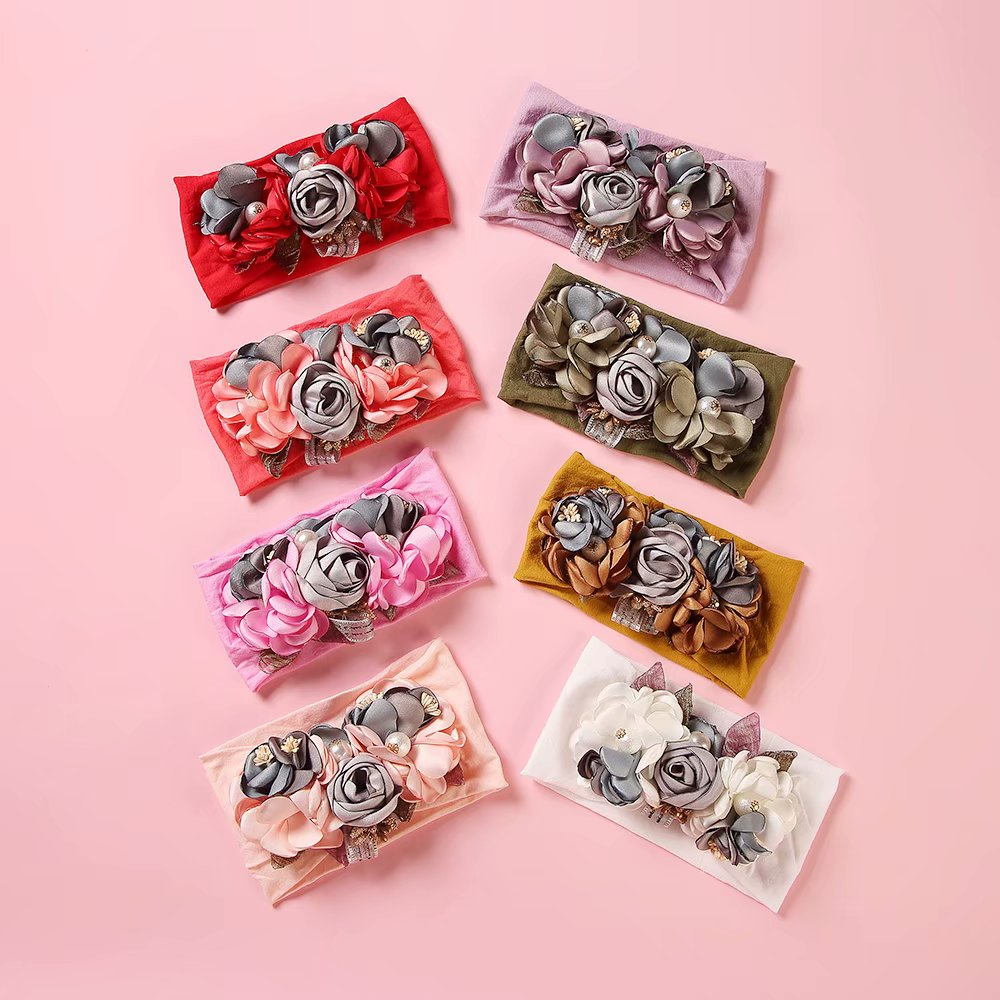 5pcs Mixed Bowknot Mini Headbands Baby Girl Hair Accessories Newborn Hair band F