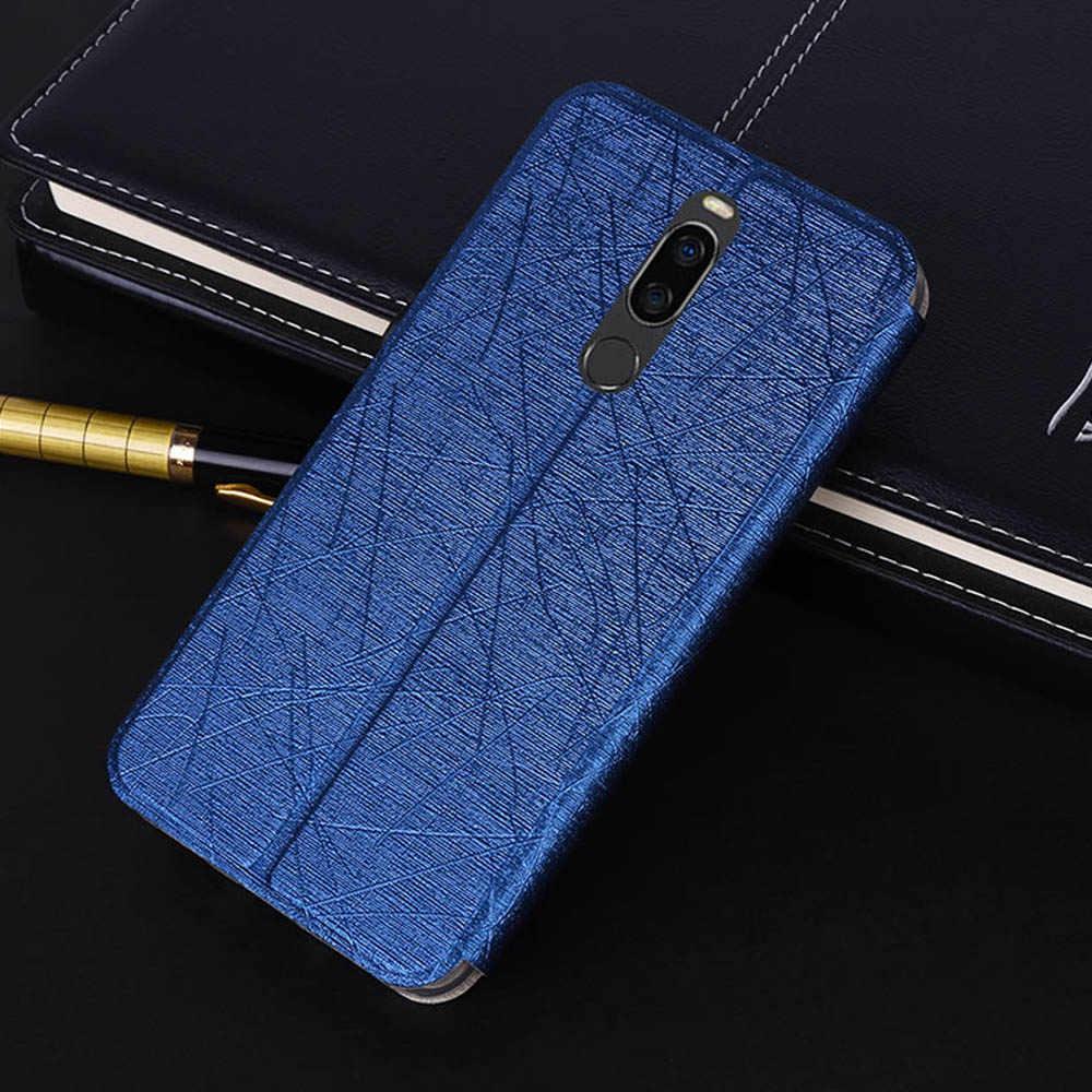 Meizu X8 kılıf Ultra ince standı deri kılıf Meizu X8 kapak Meizu M6T flip case Meizu M6 not M6S not 9 15 16XS kılıfı