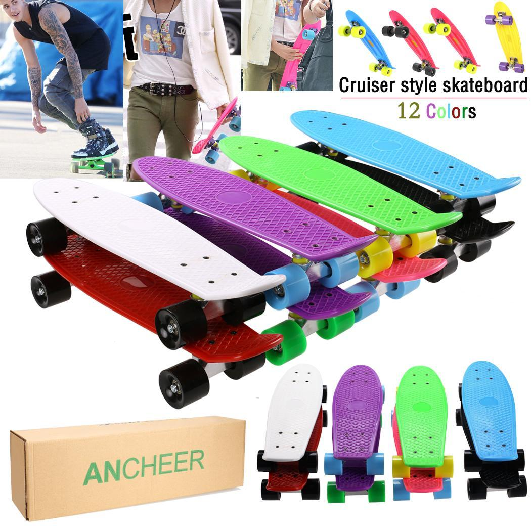 Colorfully Four-wheel 22 Inches Mini Cruiser Skateboard Street Long Skate Board Outdoor Sports For Adult Or Children