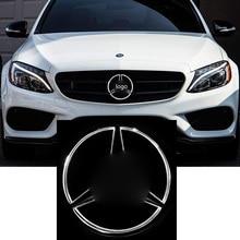 цены LISIDIC LED Emblem for Mercedes Benz 2011-2018 Black Edition Front Car Grille Badge Illuminated Logo Hood Star DRL White Light