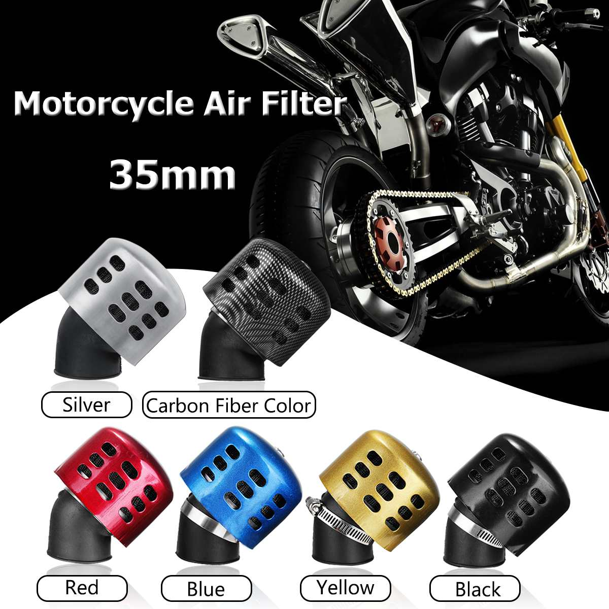 13MM Round Crank Case EngIne Breather Oil Air Filter Car Motorcycle Quad Bike CH