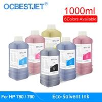 1000 Ml Eco-Solvent Inkt Voor Hp 780 790 Designjet 8000 8000S 9000 10000 9000S 10000S printer Eco Solvent Inkt (6 Kleuren Beschikbaar)