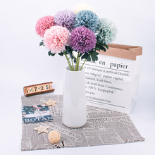 1pcs Artificial Flower Dandelion Wedding Bouquet Living Room Table Photography Decor France Embroidered ball