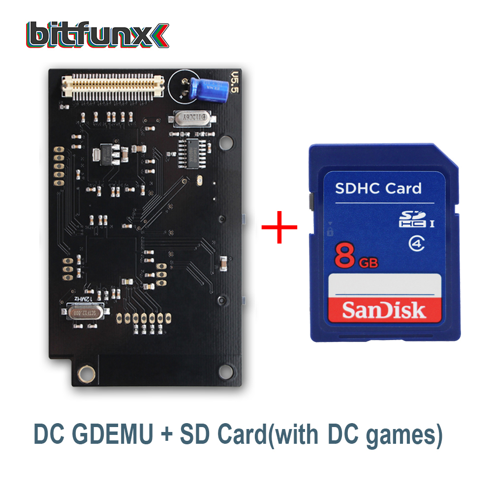 DC GDEMU Optical Drive Simulation Board V5.5 For SEGA DC Game Machine And SD/TF Card With DC  Games Installed