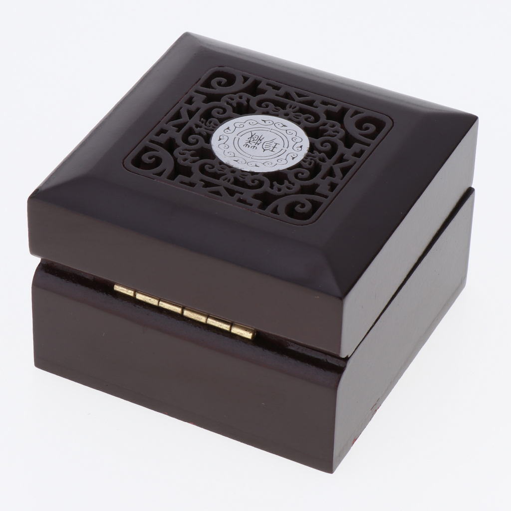 Wooden Wedding Ring Box Jewelry Packaging Gift Box Showcase Display