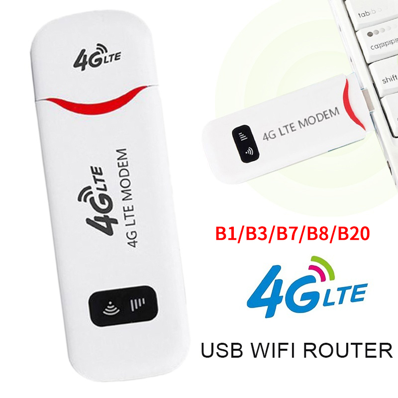 4G Portable Hotspot WiFi Router USB Adapter Router Mobile Broadband 150Mbps LTE with SIM Card European version