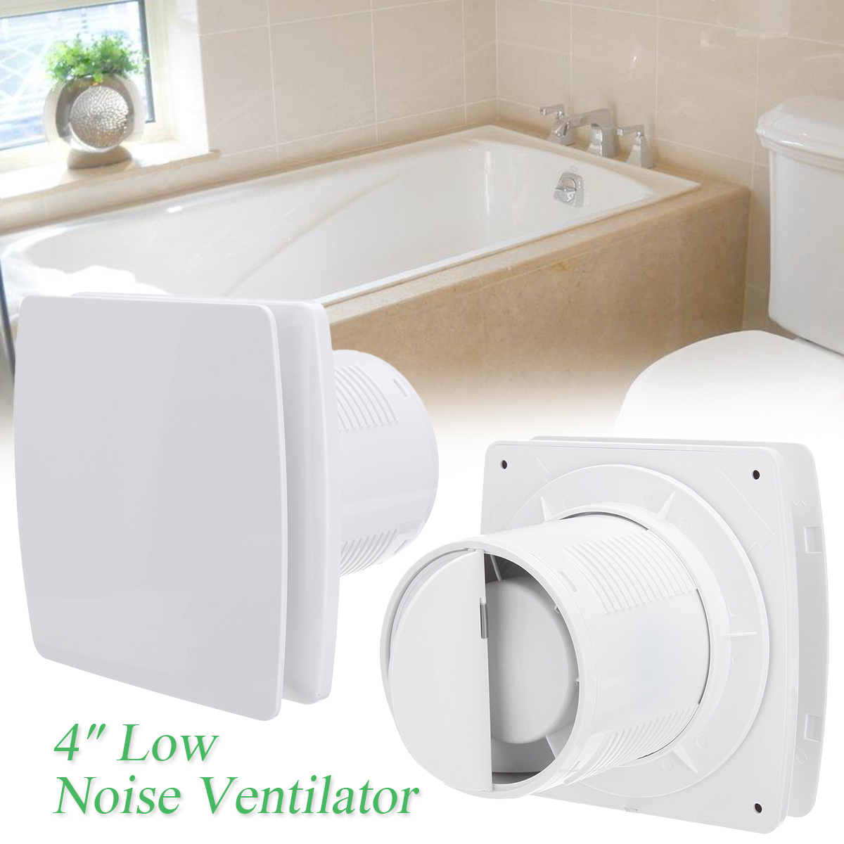 12W 4/6 Inch Home Bathroom Kitchen Bedroom Toilet Low Noise 220V Ventilator De Techo Fan Hotel Wall Silent Extractor Exhaust Fan