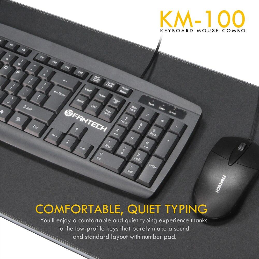 Fantech KM100 USB Keyboard Mouse Combo Black 6