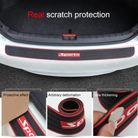QHCP Car Trunk Anti Scratch Strip Trims Rubber Prevent Trunk Door Scratches Rear Bumper Protection Guard Stickers Universal Cars