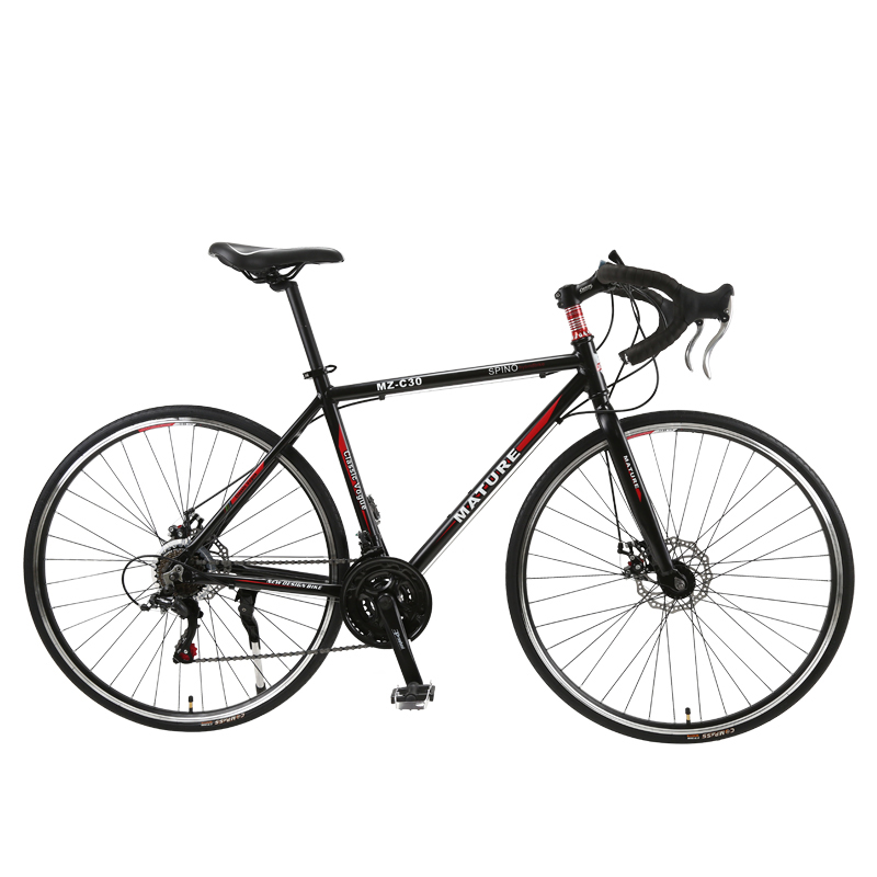 Road Bike 700C Aluminum Alloy Adult Road Bicycle Speed Double Disc Brake Racing 21/ 27/ 30 Speed Curved Road Bike