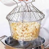 Panier de Chef français filtre à mailles | 1 pièce, rinçage à la vapeur, filtre à frire, panier magique, panier à mailles, filtre de cuisine, outil de livraison directe 1
