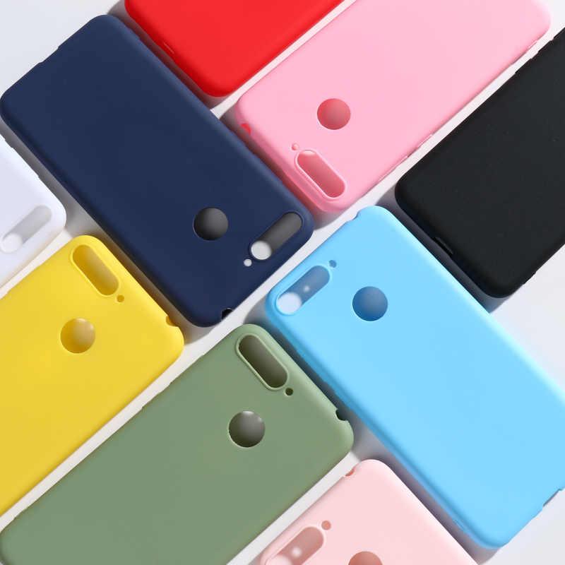 Per Huawei P40 P30 Lite P20 Nova 5T 7 6 semplice Colore Custodia Cover in silicone liquido