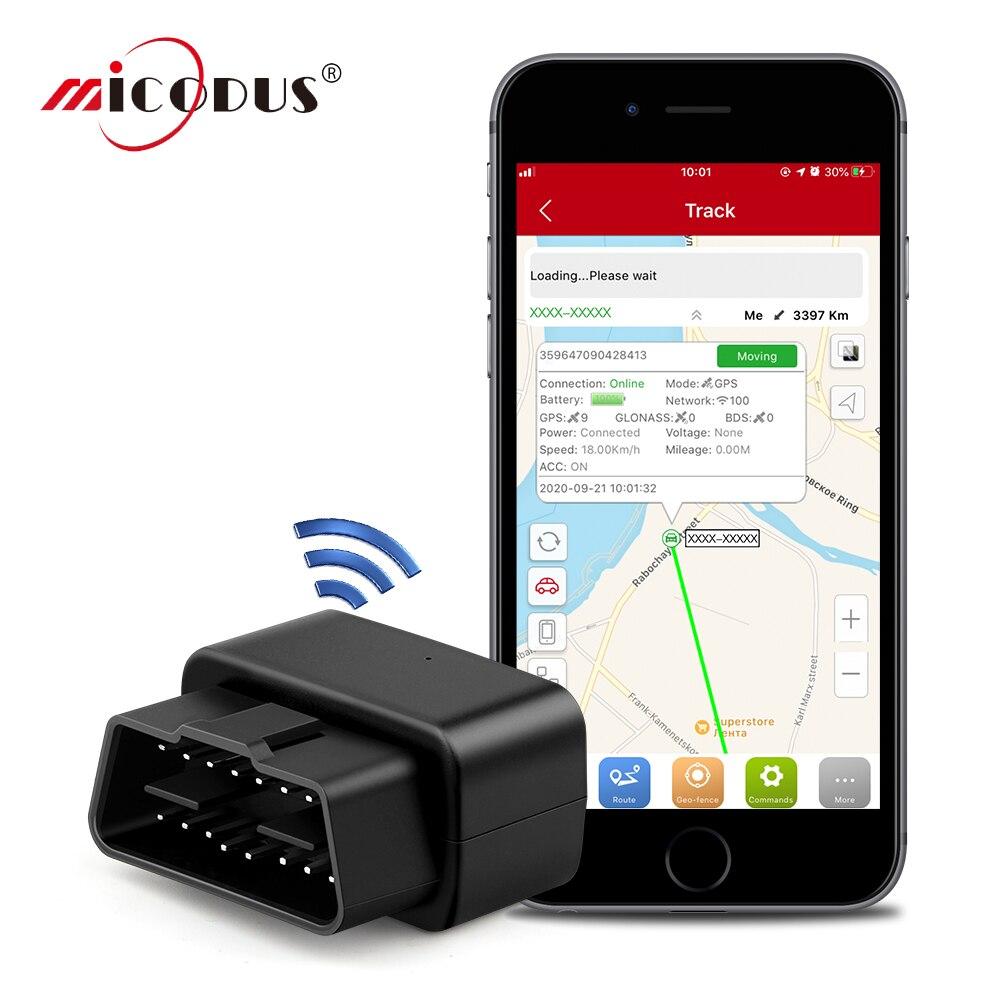 Автомобильный GPS-трекер OBD Micodus MV33, устройство для отслеживания голоса в режиме реального времени, миниатюрный GPS-локатор, Аварийная сигнализ...