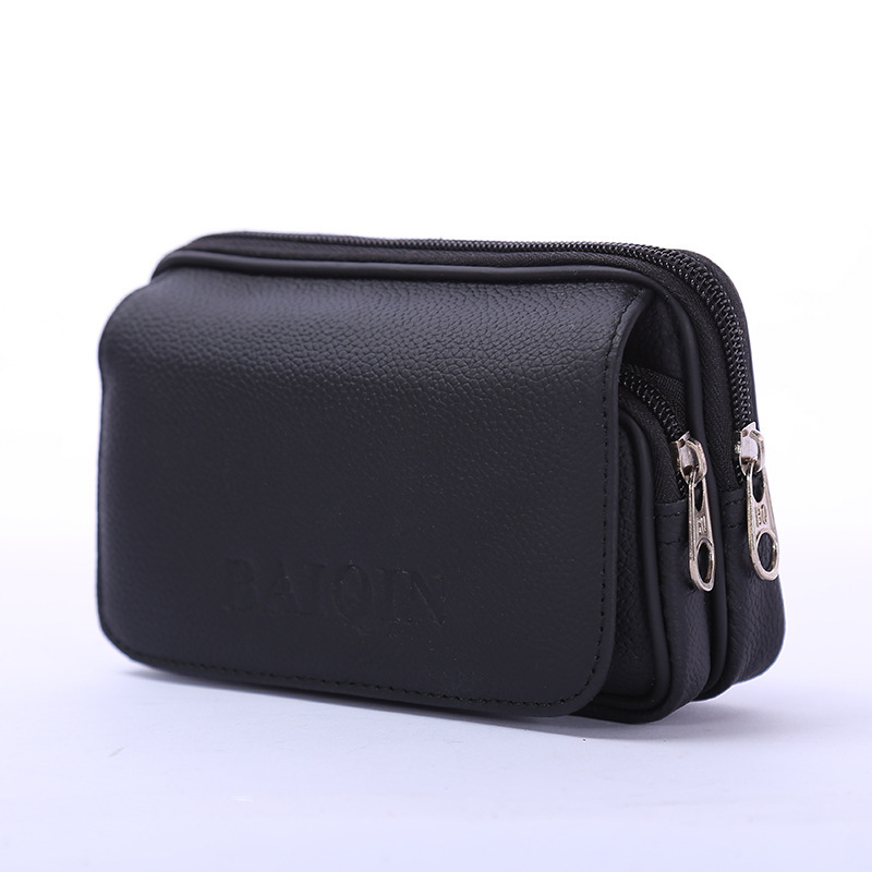 BYCOBECY 2019 Fashion Cow Leather Multi-function Outdoor Porta Tarjetas Heuptas Heren Creative Purse Phone Coin Card Waist Bag