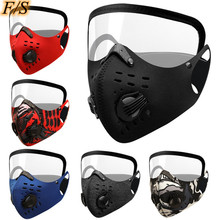 Reusable Cycling Mouth Caps with Valve Anti-Pollution Unisex  Activated Carbon  Bike Face Mask Removable gogg HQ