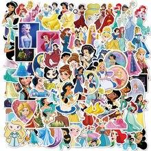 100pcs Disney principessa autoadesivi del PVC di non ripetere pegatinas auto moto pull bar scatola di cartone animato graffiti adesivi impermeabile