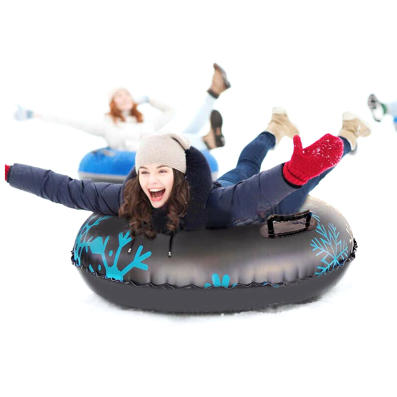 Snow Tube For Winter Fun Inflatable 47 Inch Heavy Duty Snow Sleds Skiing Supplies FOU99