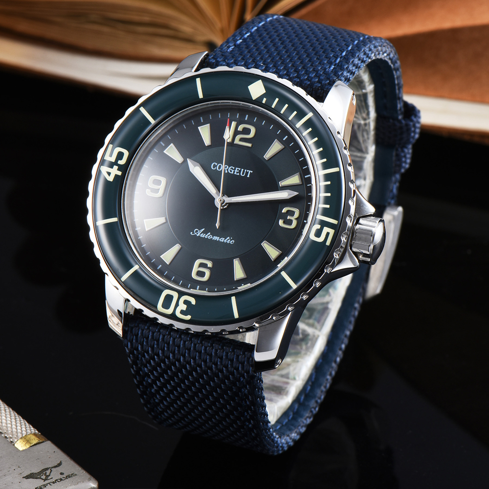 Corgeut 45mm Watch Man Sport clock luxury top brand mechanical Luminous Waterproof hands Automatic Self-Wind Vintage mens