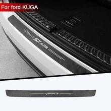Tronco do carro proteger etiqueta do carro pano de fibra de carbono para ford kuga vignale stline acessórios do carro