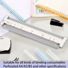 Multi-functional Hole Punch A4(30 holes) B5(26 holes) A5(20 holes) Hole Punch DIY Hole Puncher Loose Leaf Paper Hole Punch
