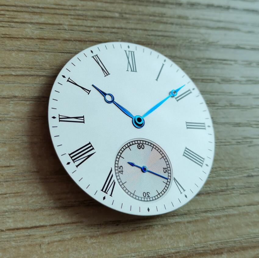 Peças de Relógio Adequado para Eta6498 Piloto Assista Dial Arroz Branco 39mm Modificado Relógio Seagull St36 G088 Mão