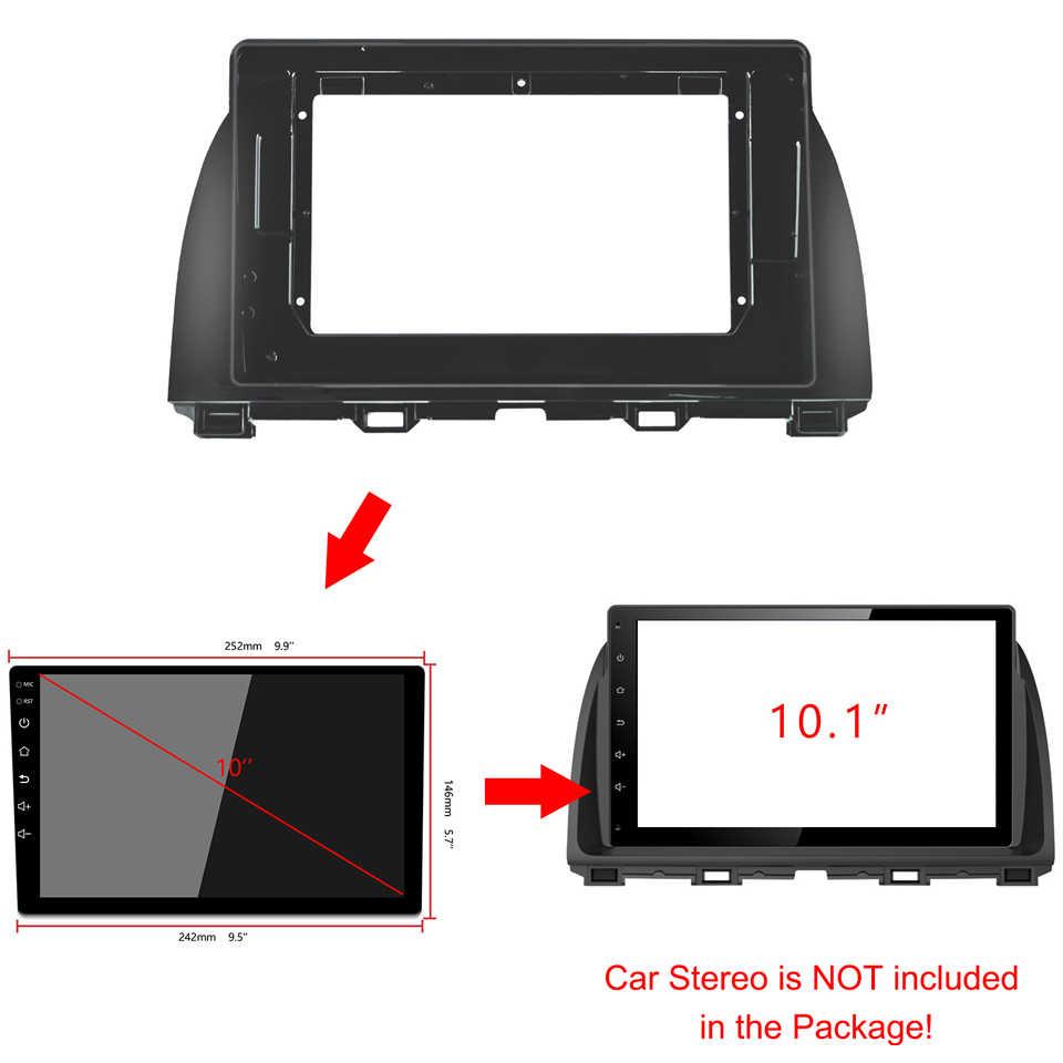 2-1Din samochodowy odtwarzacz DVD rama Audio adapter montażowy Dash Trim zestawy Facia Panel 9 cali dla Mazda CX-5 2015-2017 Radio 2din Player