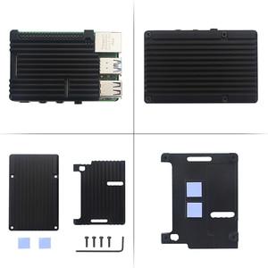 Image 5 - Original Raspberry Pi 4 Modell B Kit 2GB/4GB Aluminium Fall + Schalter Power Adapter + Micro HDMI Kabel + 32GB SD Karte für Pi 4 4B