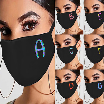 1pcs Unisex Letter Print Mask Protective Mask Washable Earloop Face Mask Fashion Reusable Windproof Dustproof Masque Mascherine недорого