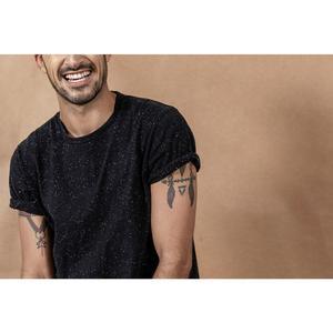 Image 4 - SIMWOOD 2020 קיץ חדש צבע כותנה חוט דוט מחשוף חולצה גברים חולצות באיכות גבוהה בתוספת גודל מותג בגדי 190475