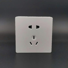цена на surface mounted wall power socket panel 86*86 type 5 pin 10A 250V chinese outlet electric plug socket 1pcs