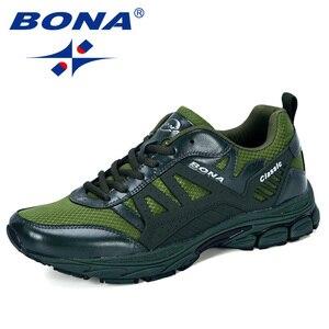 Image 5 - BONA 2019 Yeni Tasarımcı koşu ayakkabıları Erkekler Zapatillas Hombre Deportiva Yüksek erkek ayakkabı Eğitmen Sneakers Koşu yürüyüş ayakkabısı